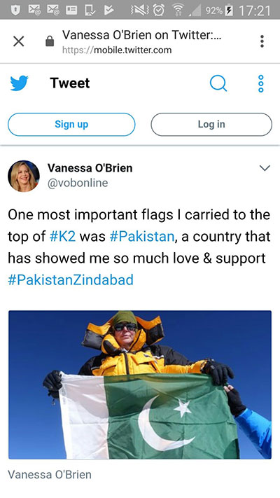 Pakistan Flag on K2